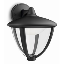 Philips 15471/30/16 Robin Venkovní nástěnné LED  svítidlo 23 cm, černá