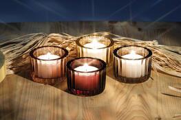 Sada skleněných svícnů Maroon