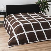 Přehoz na postel Beránek, tmavě hnědá, 140 x 200 cm