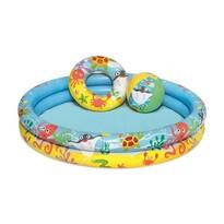Bestway Nafukovací set - bazén, plávacie koleso a lopta, 3 ks