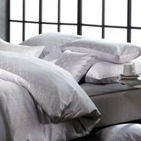 BAUER Jove brokát ágynemű, szürke, 140 x 220 cm, 70 x 90 cm