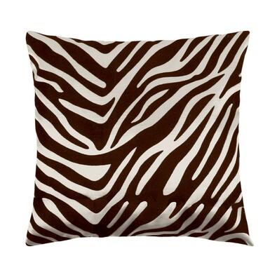 Pernă Leona zebra maro, 45 x 45 cm