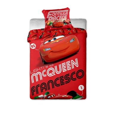 Dětské bavlněné povlečení Cars Francesco 2014, 140 x 200 cm, 70 x 90 cm