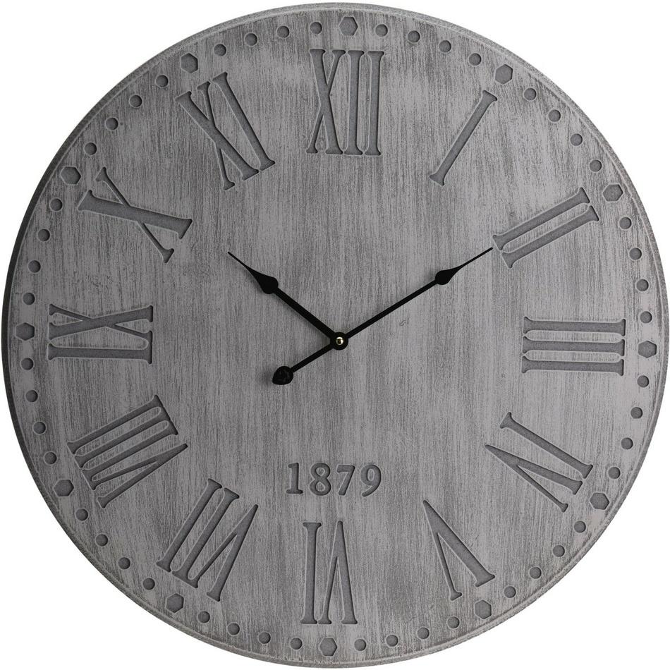 Nástenné hodiny Manfredonia sivá, 59 cm
