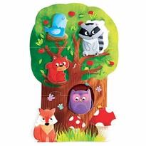 Headu Moje prvé puzzle Les s 5 drevenými figúrkami (Montessori)
