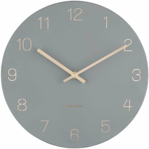 Karlsson 5788GY dizajnové nástenné hodiny, pr. 30 cm