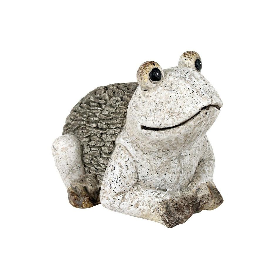 Zahradní dekorace Žába, šedá
