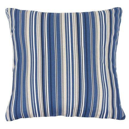 Poduszka-jasiek Ivo prążek niebieski, 45 x 45 cm