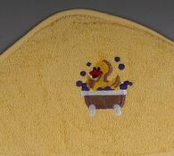 Froté dětská osuška s kapucí žlutá, 75 x 75 cm