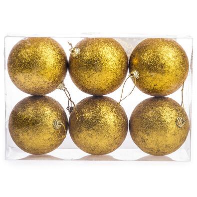 Vánoční koule 6 ks, zlatá