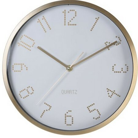 Nástěnné hodiny Puntos bílá, pr. 30 cm
