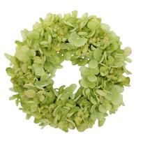 Coroniță artificială Hortensie, verde, diam. 24 cm