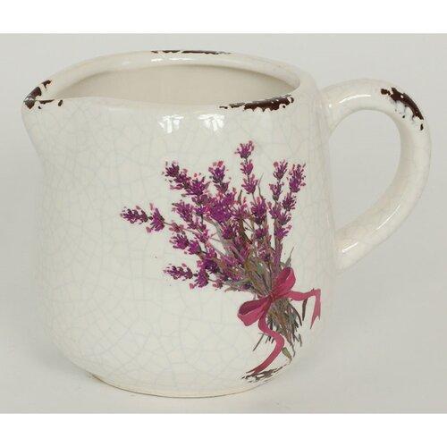 Keramický obal na květináč konev Melle, 14 cm