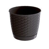 Ratolla Round műanyag virágcserép, sötétbarna