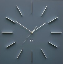 Future Time FT1010GY Square grey Designové nástenné hodiny, 40 cm
