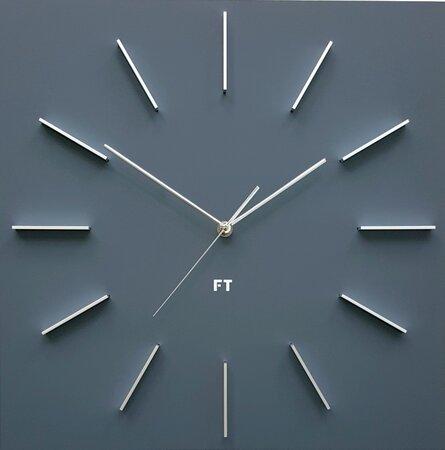 Future Time FT1010GY Square grey Design falióra, 40 cm
