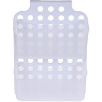 Koupelnový závěsný košík, bílá, 36 x 25 x 9 cm
