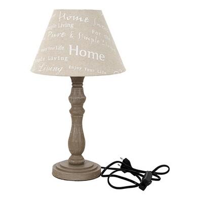 Stolní lampa se stínidlem béžová