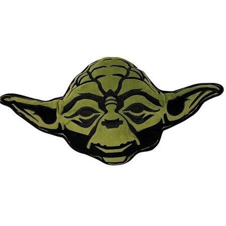 Tvarovaný polštářek Star Wars Yoda, 35 x 33 cm