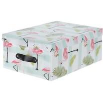 Koopman Dekoračný úložný box Flamingo, zelená