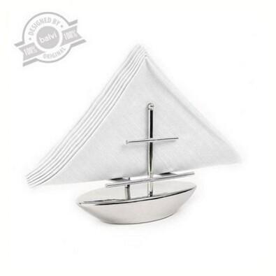 Držák na ubrousky - loď, stříbrná