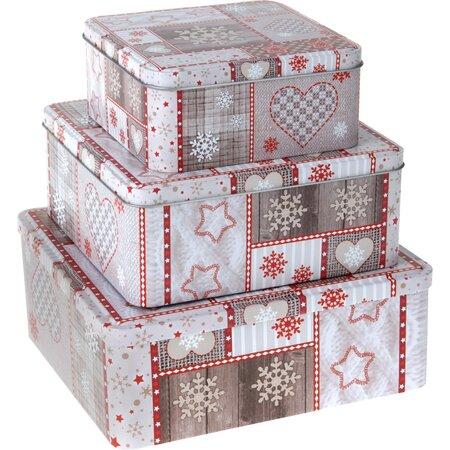 3-częściowy zestaw pudełek Adwent