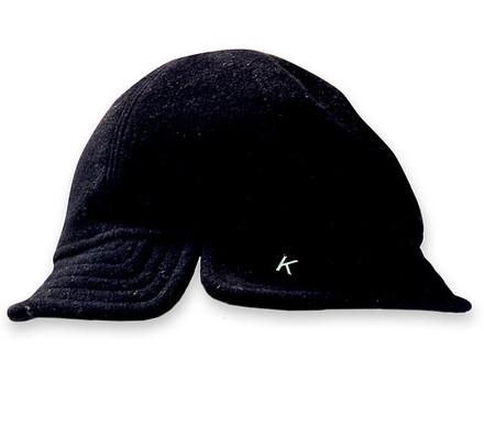 Dámský flaušový klobouk, černá, 57 - 58