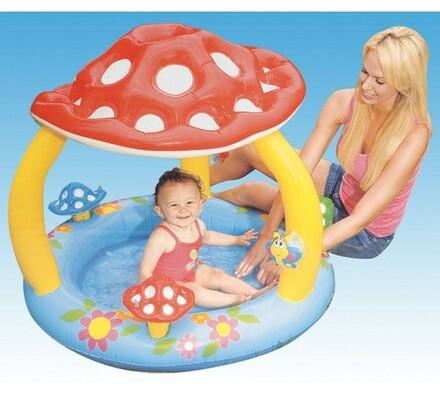 Dětský bazén ve tvaru muchomůrky, Intex, vícebarevná, 102 x 89 cm
