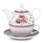 3dílná čajová sada English Rose
