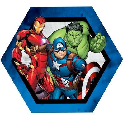 Pernă cu formă aparte Avengers group, 31 x 24 cm