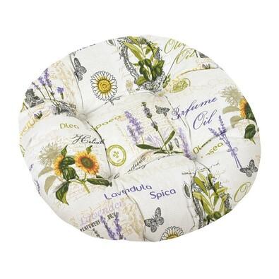 Siedzisko Gita pikowane okrągłe Słonecznik, 40 cm