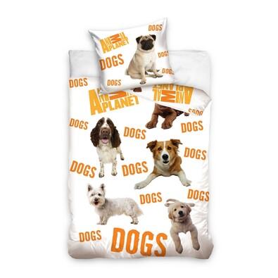 Bavlněné povlečení Animal Planet Psi, 140 x 200 cm, 70 x 80 cm