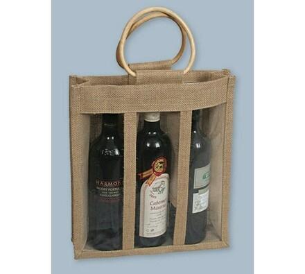 Juta - taška na 3 láhve