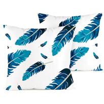 4home Poszewka na poduszkę Feathers, 2 szt. 40 x 40 cm