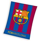Fleecová deka FC Barcelona Stripes, 130 x 170 cm