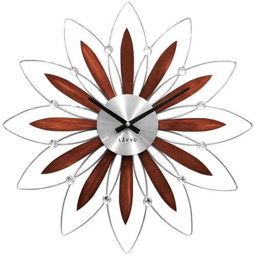 LAVVU CRYSTAL Flower LCT1111 Nástěnné hodiny
