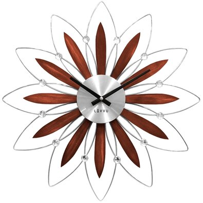 Nástěnné hodiny Lavvu Crystal Flower LCT1111, pr. 49 cm