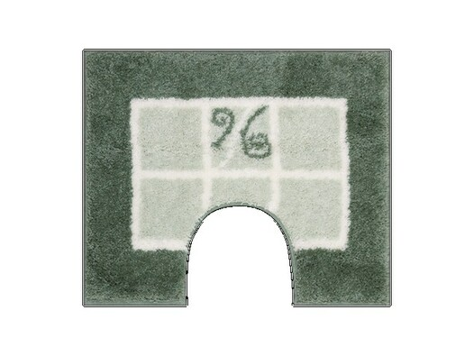 WC předložka Grund MERIDA zelená, 60 x 50 cm