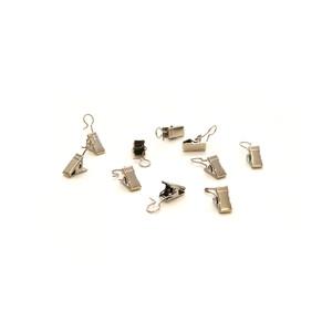 Háčky se žabičkou kovové, 10 ks, ušlechtilá ocel