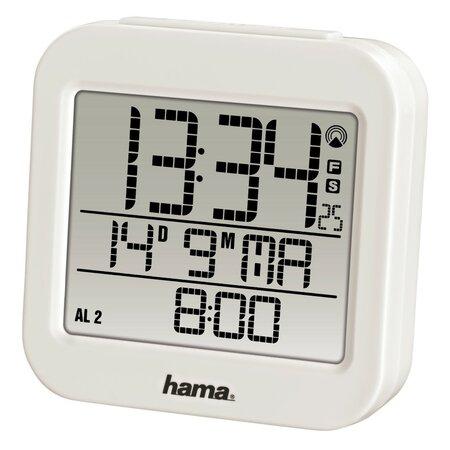 Hama RC 130 Digitální budík řízený rádiovým signálem, bílá