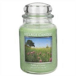 Village Candle Vonná svíčka ve skle, Zelená louka - Fields of Clover, 645 g, 645 g