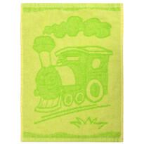 Train green gyermek törölköző, 30 x 50 cm