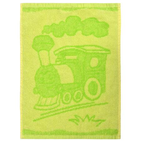 Dětský ručník Train green, 30 x 50 cm