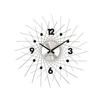 Lavvu LCT1052 Zegar ścienny Crystal Lines 49 cm, srebrny