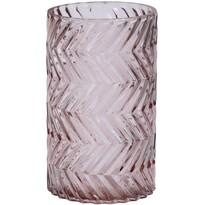Świecznik Romanesca różowy, 12 x 20 cm