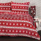 Lenjerie pat  1 pers. 4Home Vis de iarnă, microflanel, 160x 200 cm, 2x 70 x 80 cm