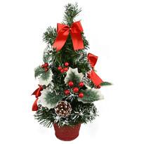 Vianočný stromček Celebración červená, 30 cm