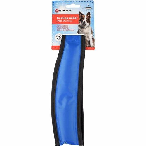 Flamingo Chladiaci obojok pre psov, veľkosť L 49 - 56 cm, modro/sivá