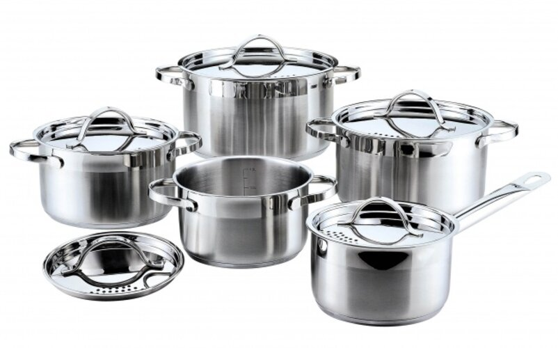 10dílná sada nerezového nádobí ELLIZE