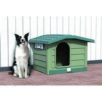 Psia búda Bungalow zelená, 89 x 75 x 62 cm